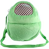 Pet Carrier Bag Pet Pocket,2125cm Pet Carrier Breathable Pocket Hamster Rabbit Ferret Travel Sleeping Hanging Bed Bag (Green)