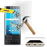 VComp-Shop® 3x Hochwertige gehärtete Panzerglasfolie mit runder Wölbung am Rand für BlackBerry Priv - TRANSPARENT