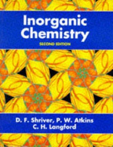 Inorganic Chemistry by D.F. Shriver (1994-03-31)
