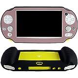 Pandaren® Cubierta de silicona cover mano agarre funda protectora (marrón) para PS Vita slim PSV 2000