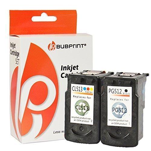 Bubprint 2 Druckerpatronen kompatibel für Canon PG512 XL CL513 XL für Pixma IP2700 MP230 MP240 MP250 MP270 MP280 MP282 MP495 MP499 MX320 Schwarz Color