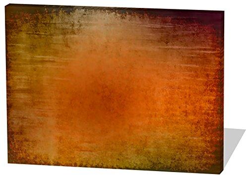 Abstrakt, Gemälde Effekt, schönes und hochwertiges Leinwandbild zum Aufhängen in XXL - 100cm x 70cm, echter Holzrahmen, effektiver Pigmentdruck, modernes Design für Ihr Büro oder Zimmer