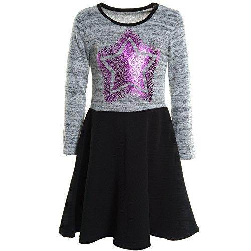 ze Winter Kleid Peticoatkleid Festkleid Lang Arm Kostüm 20742, Farbe:Grau;Größe:116 (Armee-kostüm Für Mädchen)