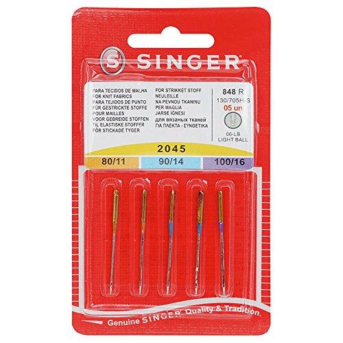 Singer Jersey-Nadeln 2045/Stärke 80-100/130/705 H-S/5 Nadeln