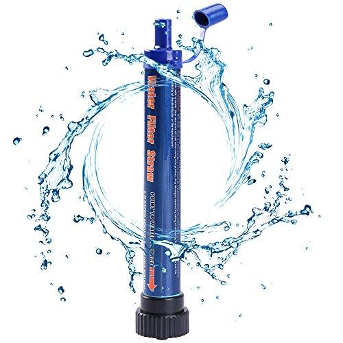 RUNACC- Wasser Filter Tragbar Wasserfilter Wasser Filtration System für Camping Reisen Outdoor Unisex (Dunkelblau)