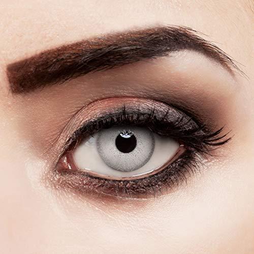 Farbig grau Kontaktlinsen für dunkle Augen natürlich farbige Jahreslinsen hellgrau