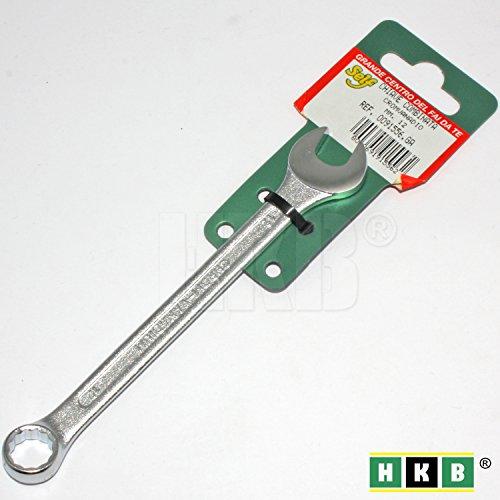 HKB® 1 Stück Gabel-Ringschlüssel, 12 / 12mm, Chrom-Vanadium-Stahl, Profi-Qualität, DIN 3113 A zertifiziert, Hersteller SELF, Artikel-Nr. 0091556 -