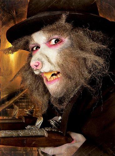 Halloween Karneval Party Kostüm Ratten Schnauze Latexapplikation für (Kostüm Ohren Ratte)
