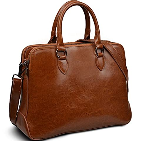 Yaluxe Women's Leather Briefcase 13