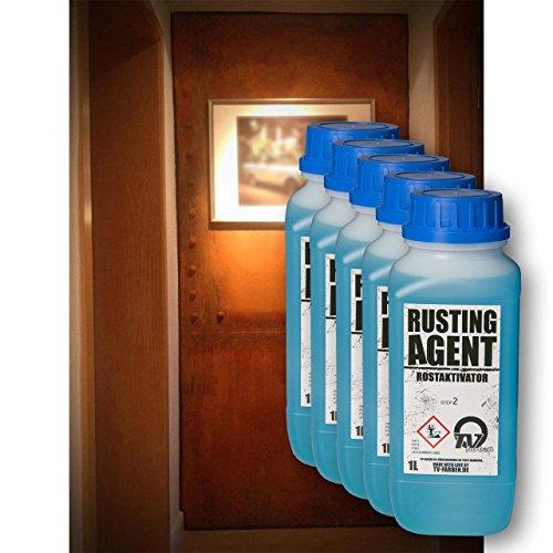 Rusting Agent Rostaktivator 5l - Oxidationsmittel für Rosteffekt Rostoptik Echt-Rost Cortenstahl