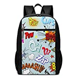 Comic Book Explosion Laptop Backpack for Women Men,School College Backpack Travel Backpack Fits 17 inch Notebook (12' L X 6.5' W X 17' H in)