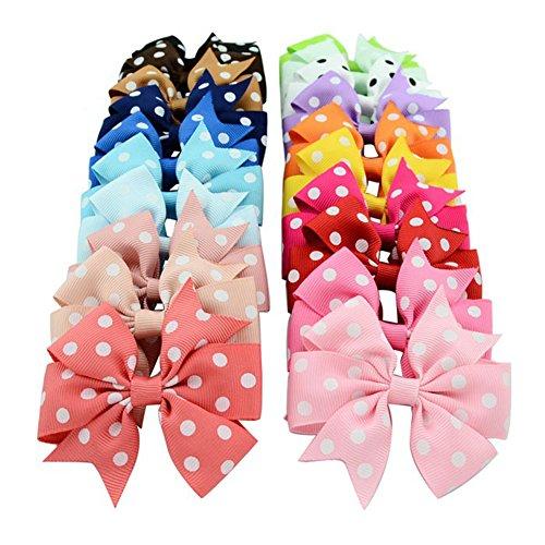 Pack Haar Bögen Schleife Haar Clip Pure Color Haarspange Haar-Accessoires für Baby Mädchen Kinder Teens (Niedliche Kostüme Teens)