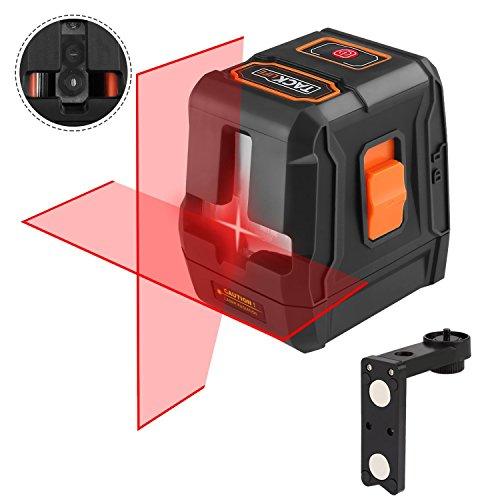 Livella laser, Tacklife SC-L07 15m Crossover autolivellante, laser lineare automatico 110 ° orizzontale/verticale, IP54, 35 m con ricevitore laser, supporto magnetico