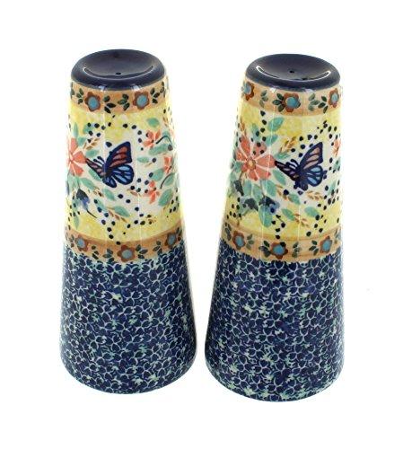 polish-pottery-blue-butterfly-salt-pepper-shakers-by-blue-rose-pottery