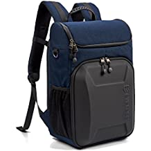 Evecase Shell DSLR Camera/15.6-inch Laptop Water Resistant Backpack Travel Daypack w/Rain Cover and Inner Bag for Nikon Canon Fujifilm Sony Digital SLR, Mirrorless Camera and More - Navy Blue