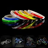 Safety Reflective Warning lighting Sticker Adhesive Tape Roll Strip. For Beautify Bicycle Bike Decoration (Red)