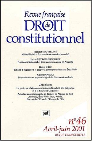 Revue franaise de droit constitutionnel N 46 Avril-Juin 2001