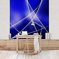 VliesTapete Premium Blue Disco FotoTapete Quadrat Vlies Deko Wand Wandtapete