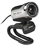 TeckNet® C018 Webcam Full HD 1080P con Microfono,argento