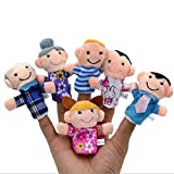 #1: Hexawata Family Finger Puppet Cartoon Figure Finger Toys Pack of 6