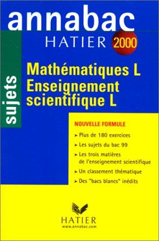 Annabac, sujets 2000 - mathématiques et enseignements scientifiques L