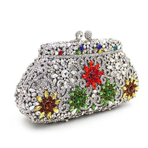 Frauen-Luxus Blumen Voller High-End-Paket Paket Abendbeutel Verpackungsbeutel B