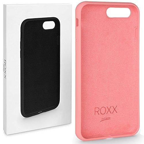 ROXX Apple iPhone 7/8 Hard Case Silikon Hülle | Wie Das Original nur Besser | Testsieger | iPhone 7 Hülle Rosa | iPhone 8 Hülle Rosa