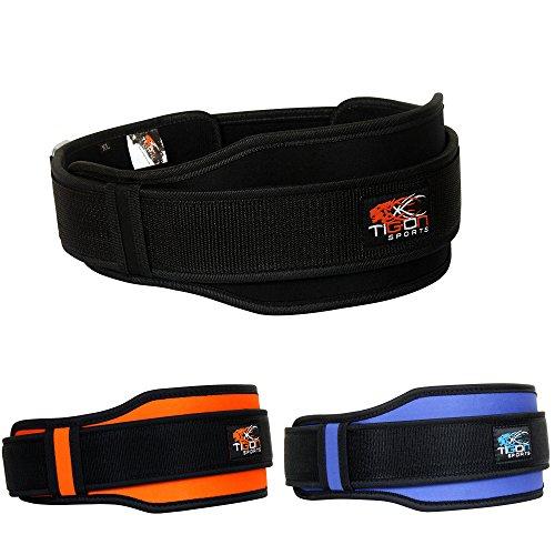 Foto de Cinturón de neopreno para levantamiento de pesas, gimnasio o fitness, de doble apoyo, M (74,7 -94 cm)