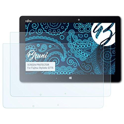Bruni Schutzfolie kompatibel mit Fujitsu Stylistic Q775 Folie, glasklare Bildschirmschutzfolie (2X)