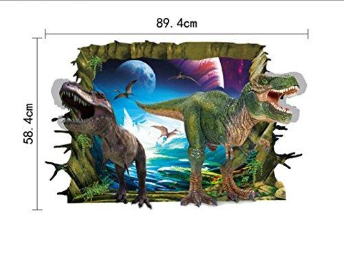 rc-angel 3d dinosaurios arte de pared adhesivo calcomanías de vinilo extraíble habitación infantil