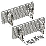 Margueras - 20 tiradores de barra para puertas de armario de cocina de 160 mm entre orificios.
