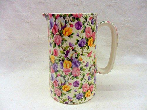 Heron Cross Pottery Ditsy Sweet PEA Design 2Pint Krug Krug Sweet Pea Chintz
