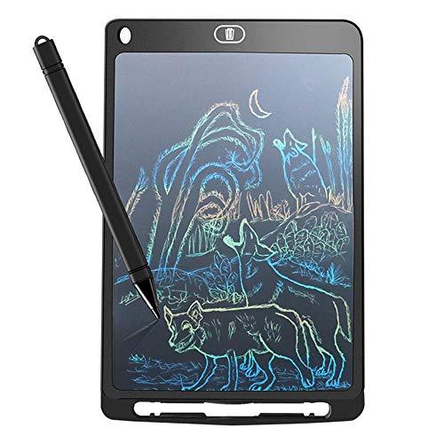 QDZGZCAA 10 pollici LCD a colori che evidenzia la scrittura a mano for bambini Early Education Graffiti lavagna elettronica Boogie Board (Colore : Nero)