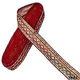 Ethnisch Indisch DIY Nähen Handwerk Hause Dekorative Rot Bestickt Gewebte