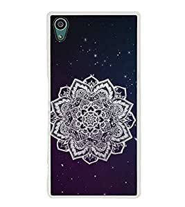 FUSON Ornamental Round Damask Stars Designer Back Case Cover for Sony Xperia Z5 :: Sony Xperia Z5 Dual 23MP