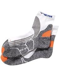 VICTOR Socken Indoor Explosion, Grau/Weiß/Orange, 36-42 oder 43-47