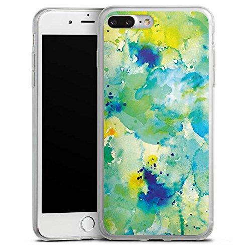 Apple iPhone 8 Plus Slim Case Silikon Hülle Schutzhülle Malerei Tie Dye Batik Herbst Silikon Slim Case transparent