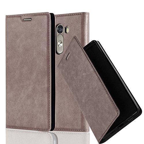 Cadorabo Hülle für LG G3 - Hülle in Kaffee BRAUN – Handyhülle mit Magnetverschluss, Standfunktion und Kartenfach - Case Cover Schutzhülle Etui Tasche Book Klapp Style