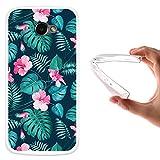 WoowCase LG K5 Hülle, Handyhülle Silikon für [ LG K5 ] Tropische Blumen 2 Handytasche Handy Cover Case Schutzhülle Flexible TPU - Transparent