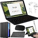 Tablette Tactile 2 en 1 - 64Go ROM Tablette Tactile Ecran 10 Pouces 4G 3Go RAM Android 8.1 Quad Core Doule SIM/WiFi Compris Clavier et Souris sans Fil 8500mAh Batterie Bluetooth GPS OTG (Noir)