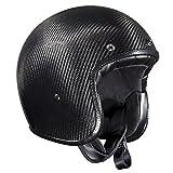 Bandit Helmets ECE geprüfter Carbon Jethelm,ECE 22-05,Motorrad,Roller, Sports-Farbe:carbon, Größe:L(59-60cm)