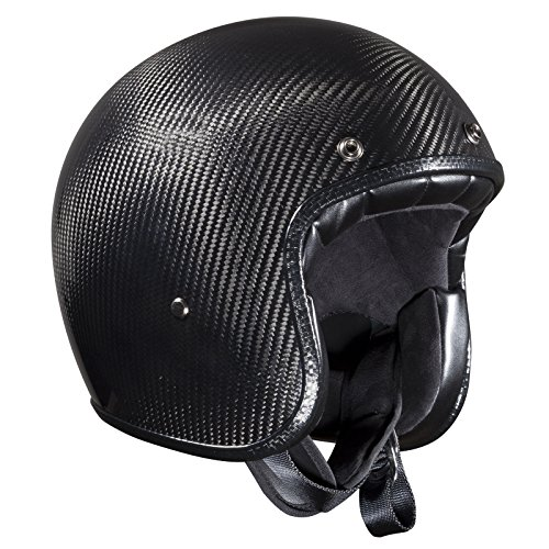 ece-certified carbono casco jet de Bandit cascos, mujer hombre, gris oscuro, L(59-60 cm)