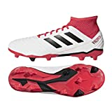 adidas Herren Predator 18.3 FG Fußballschuhe, Weiß (Footwear White/Core Black/Real Coral),44 EU