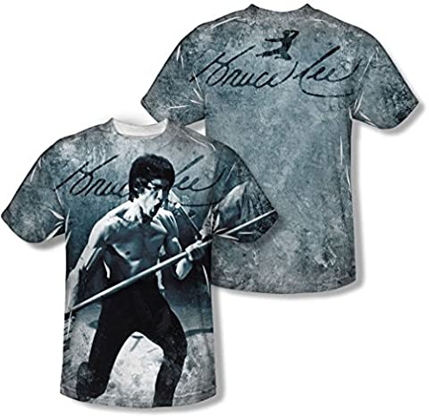 Bruce Lee - Jugend Whoooaa T-Shirt, X-Large, White