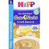 Hipp Gute-Nacht-Brei Grieß Banane, 4er Pack (4 x 500 g)
