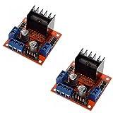 2 Pcs L298N Dual H Bridge DC Motor Driver Stepper Motor Driver Controller Module for Arduino Motor Drive Controller Board Module