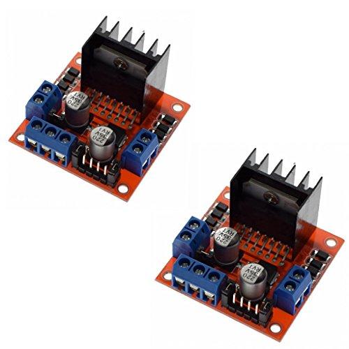 2 Pcs L298N Dual H Bridge DC Motor Driver Stepper Motor Driver Controller Module for Arduino Motor Drive Controller Board Module -