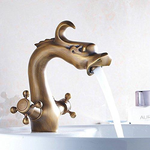Galvanik Retro Wasserhahn Kostenloser Versand Messing golden/Vergoldung Bad & Dusche Mixer, Dusche Wasserhahn, Niederschlag eingerichtet Dusche, Badezimmer tippen, Antike (Niederschlag Brunnen)