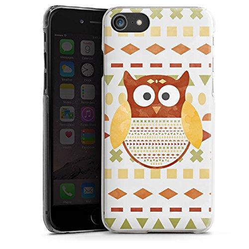 Apple iPhone X Silikon Hülle Case Schutzhülle Eule Muster Owl Hard Case transparent