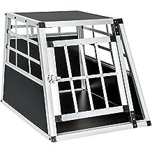 TecTake Transportín de aluminio para perros 54 x 69 x 50 cm